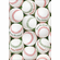 Red and Green Baseballs Christmas Cards<br>6 PACK MINIMUM!