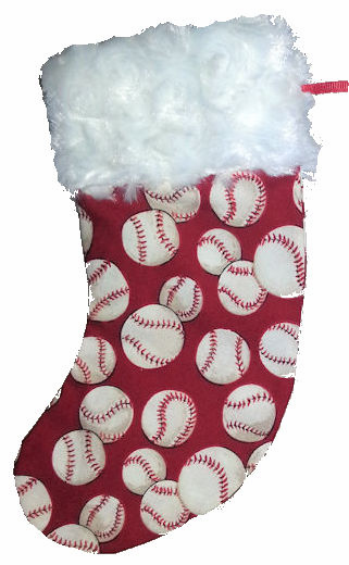 Red Baseball Mini Christmas Stocking Gift Card Holder<br>LESS THAN 6 LEFT!