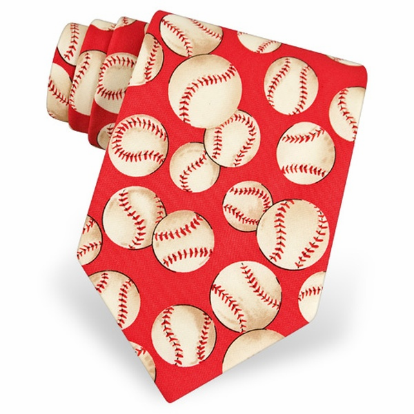 Red Baseball Men's Tie<br>LESS THAN 8 LEFT!