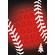 Red Trees Baseball Christmas Cards<br>6 PACK MINIMUM!