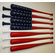 Red, White and Blue American Flag made with Maple Baseball Bats