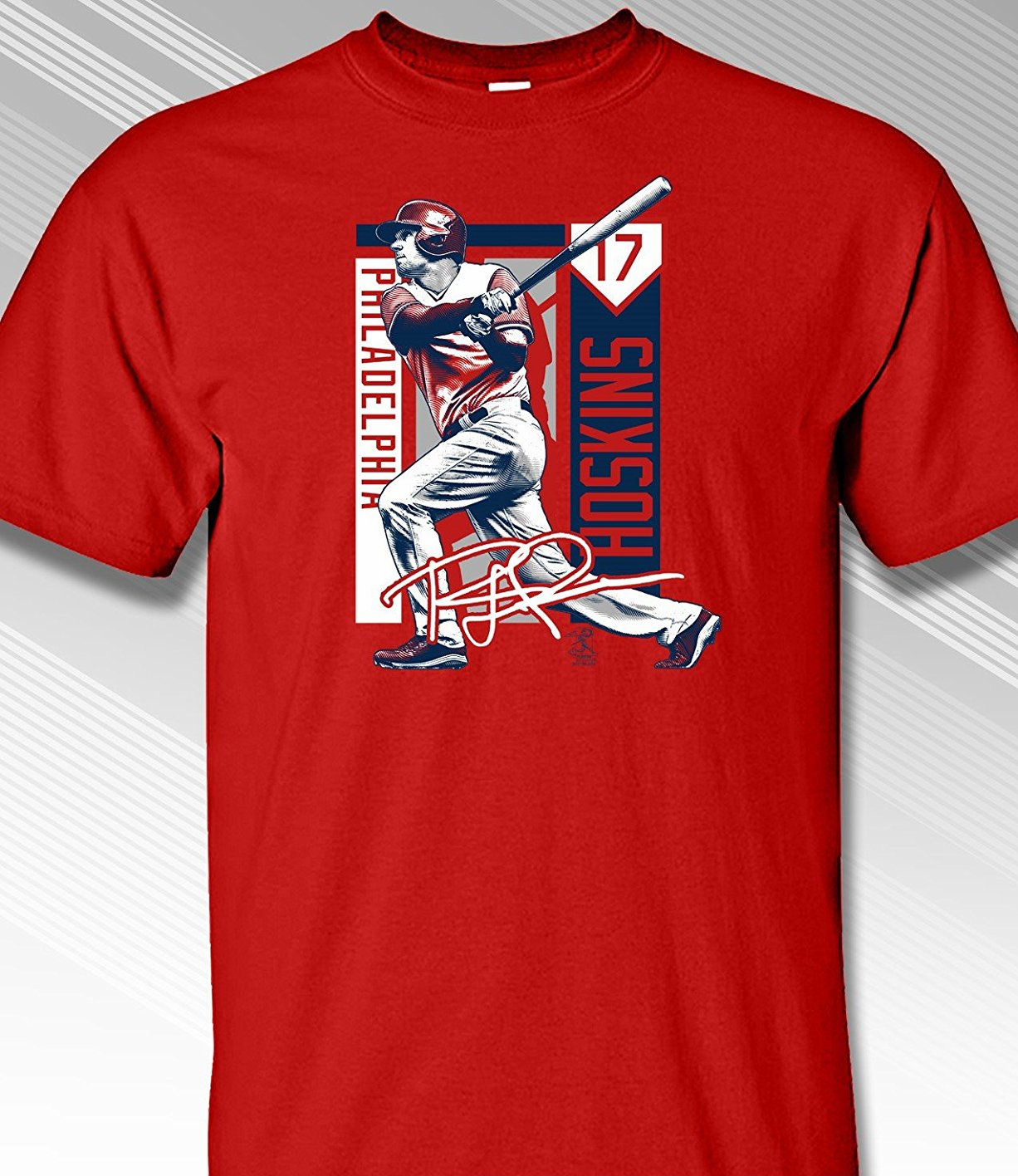 Rhys Hoskins Philadelphia Colorblock T-Shirt<br>Short or Long Sleeve<br>Youth Med to Adult 4X