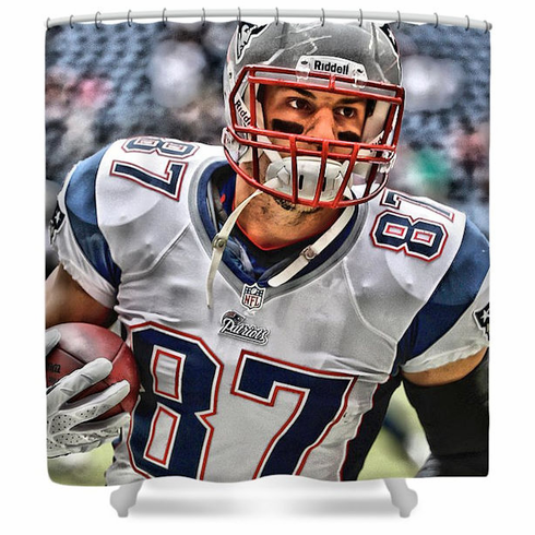 Rob Gronkowski New England Patriots Shower Curtain