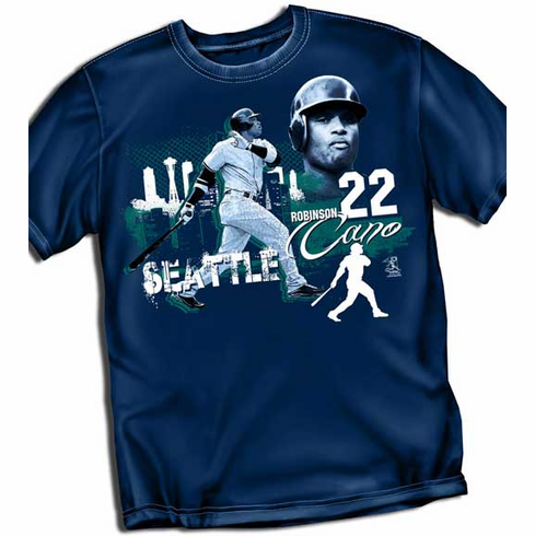 Robinson Cano Big City T-Shirt<br>Short or Long Sleeve<br>Youth Med to Adult 4X