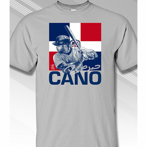 Robinson Cano Dominican Republic Flag T-Shirt<br>Short or Long Sleeve<br>Youth Med to Adult 4X