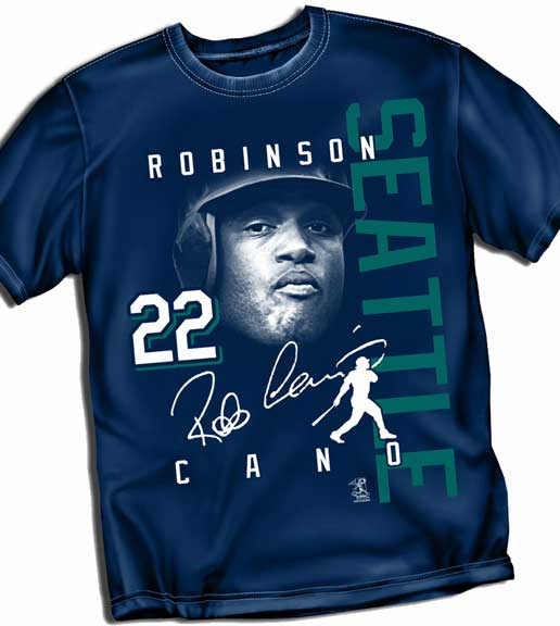 Robinson Cano SEATTLE Signature T-Shirt<br>Short or Long Sleeve<br>Youth Med to Adult 4X