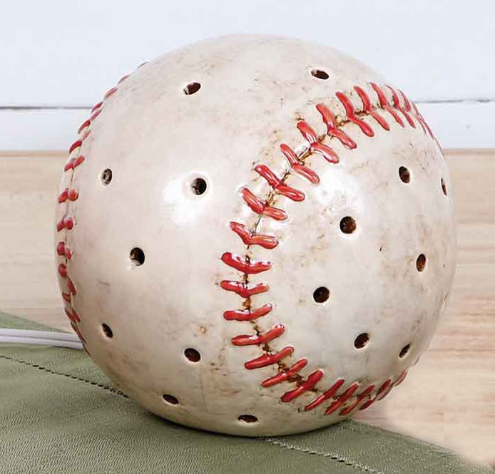 "Round Baseball 5"" Ceramic Plug-In Night Light"