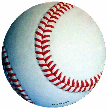 Round Baseball Car Magnet