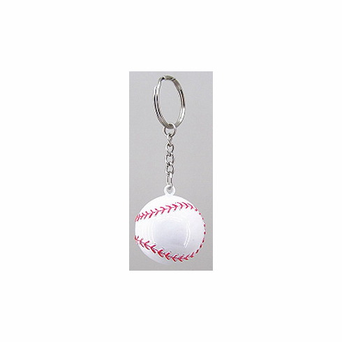 Round Baseball Key Chain
