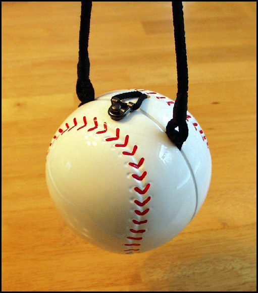 Round Baseball Purse / Handbag by Timmy Woods