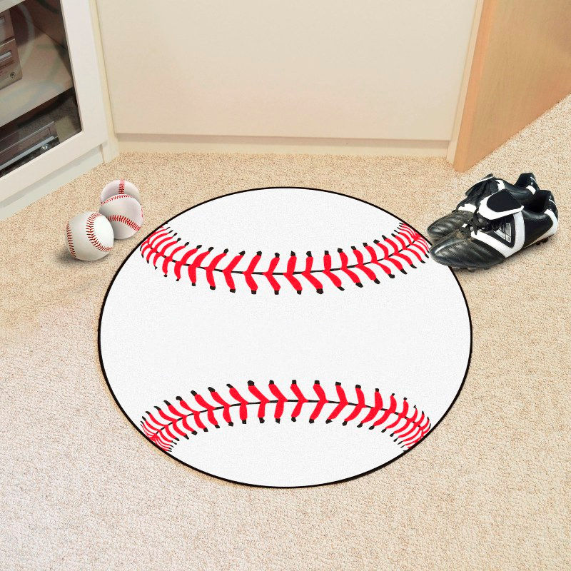 Round Baseball Rugs<br>2 SIZES
