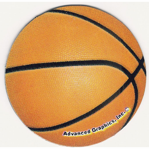 Round Basketball Car Magnet