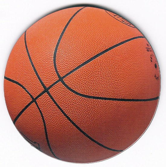 Round Basketball Magnet