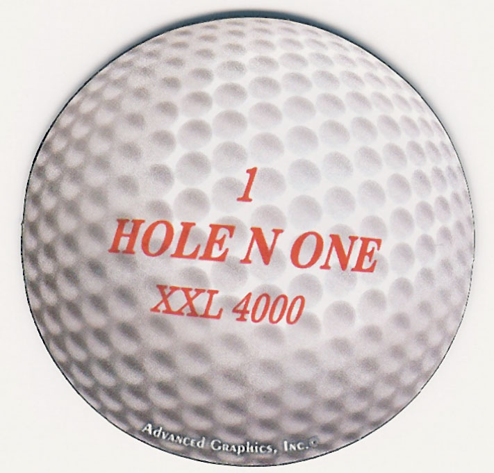 Round Golf Ball Car Magnet