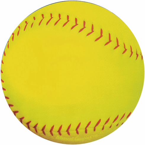 Round Softball Car Magnet