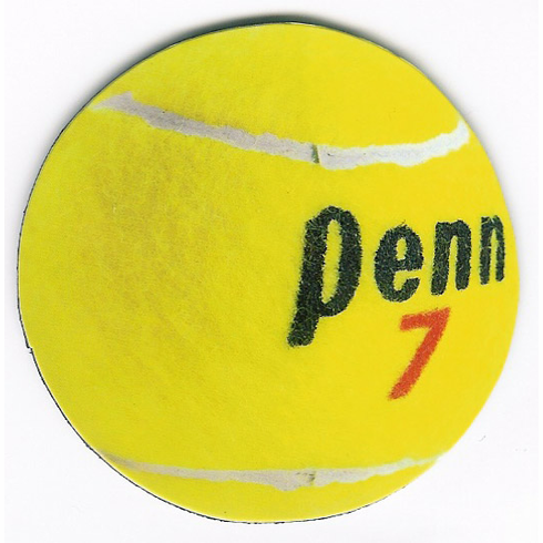 Round Tennis Ball Magnet