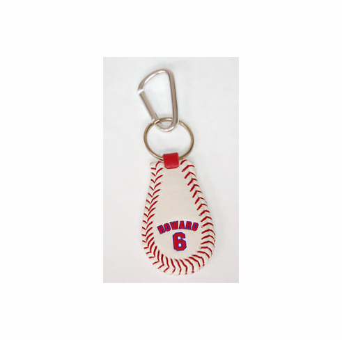Ryan Howard 6<br>Baseball Seam Keychain
