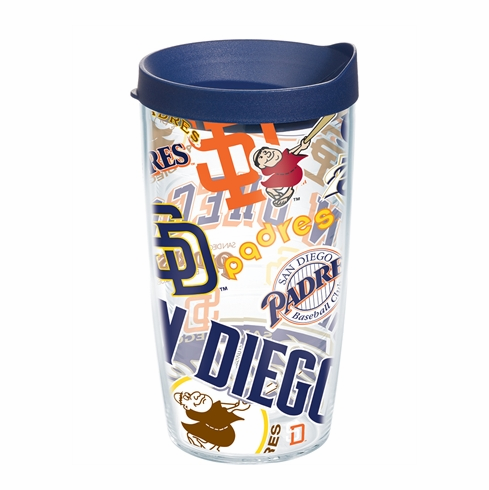 San Diego Padres All Over Wrap Set of Cups with Lids by Tervis