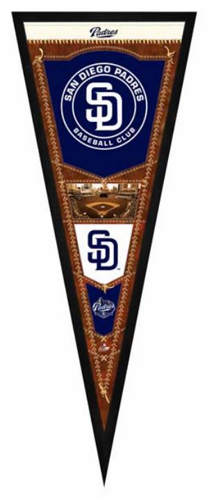 San Diego Padres Framed Pennant Sign