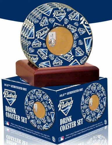San Diego Padres Game Used Dirt Coaster Set<br>ONLY 2 SETS LEFT!