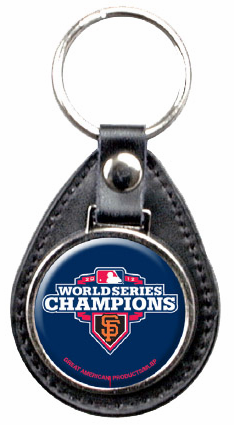 San Francisco Giants 2012 World Series Champions Leather Key Fob<br>ONLY 5 LEFT!