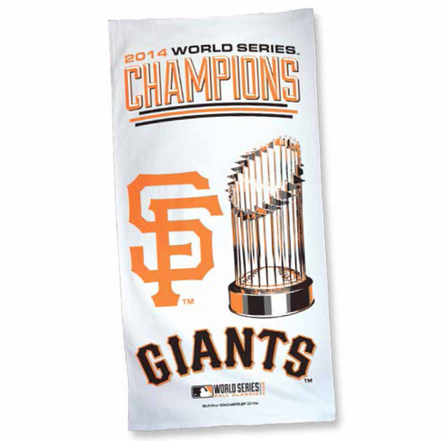 San Francisco Giants 2014 World Series Champions 30x60 Screened Beach Towel<br>LESS THAN 8 LEFT!