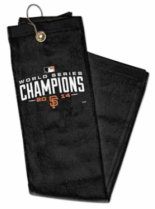 San Francisco Giants 2014 World Series Champions Embroidered Golf Towel<br>LESS THAN 10 LEFT!