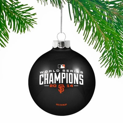San Francisco Giants 2014 World Series Champions Glass Ornament<br>ONLY 1 LEFT!