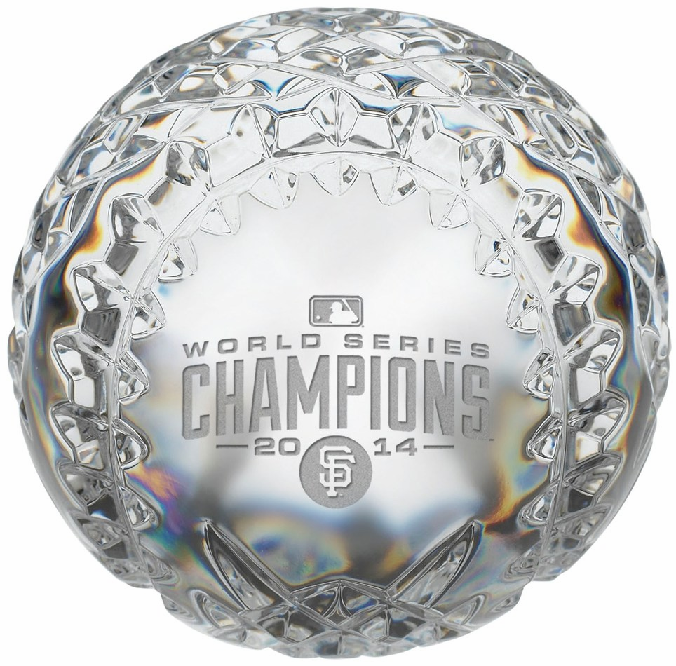 San Francisco Giants 2014 World Series Champions Limited Edition Waterford Baseball<br>ONLY 3 LEFT!