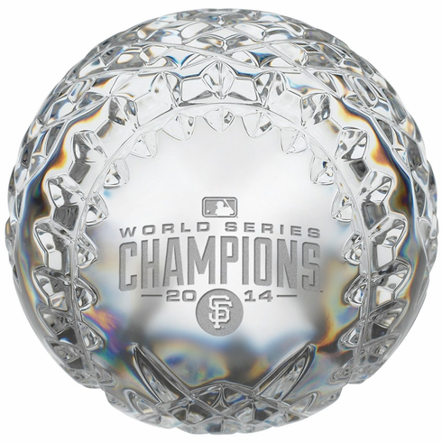 San Francisco Giants 2014 World Series Champions Limited Edition Waterford Baseball<br>ONLY 4 LEFT!