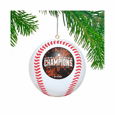 AFTER CHRISTMAS SALE!<br>San Francisco Giants 2014 World Series Champions Replica Baseball Ornament<br>LESS THAN 6 LEFT!
