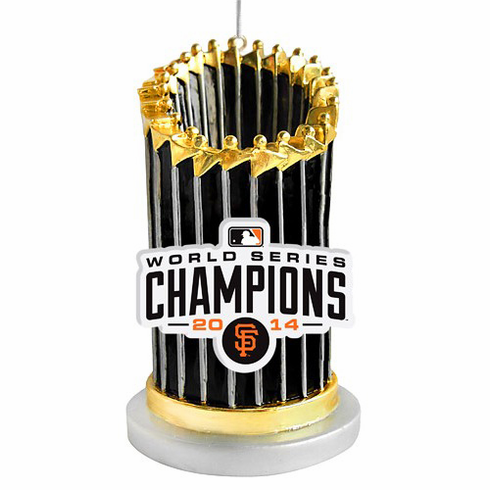 San Francisco Giants 2014 World Series Champions Trophy Ornament<br>LESS THAN 12 LEFT!