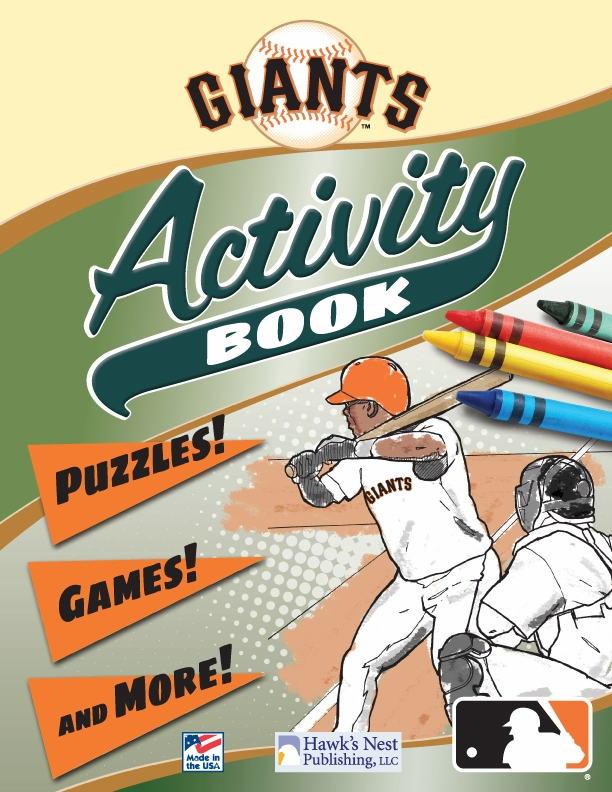 San Francisco Giants MLB Activity Book<br>ONLY 6 LEFT!