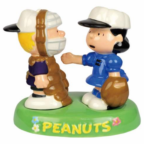 Schroeder & Lucy Baseball Salt & Pepper Shakers