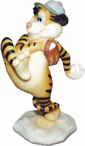 Scratch Tiger Baseball Figurine<br>ONLY 2 LEFT!