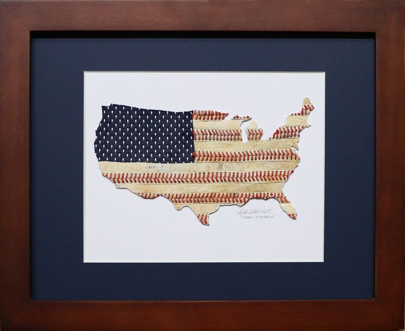 Seams of America Baseball Stitches USA Original Artwork<br>ONLY 1 LEFT!