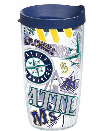 Seattle Mariners All Over Wrap Set of Cups with Lids by Tervis