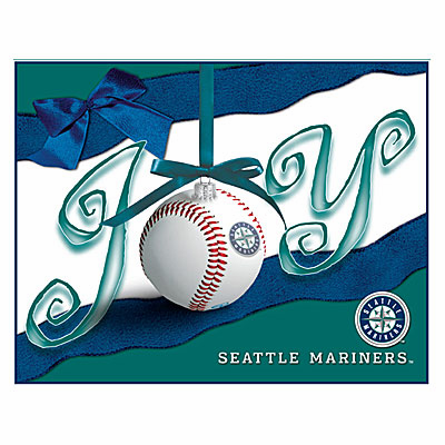 Seattle Mariners JOY Baseball Boxed Christmas Cards