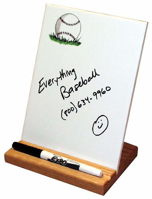 Self Standing Baseball Dry Erase Board