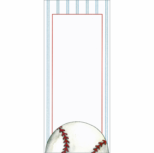 Set of 10 Imprintable Baseball Slimline Cards with Envelopes