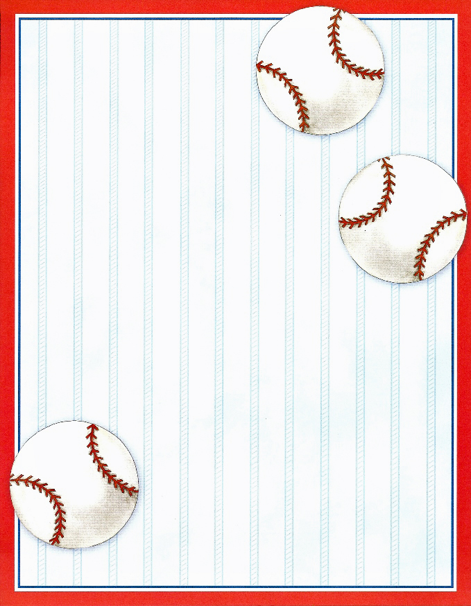 Set of 15 Imprintable Baseball Pages with Envelopes