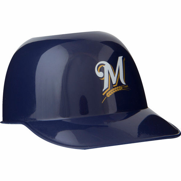 Set of 48 Milwaukee Brewers 8oz Ice Cream Sundae Baseball Helmet Snack Bowls