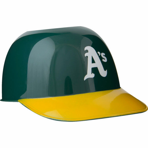 Set of 48 Oakland Athletics 8oz Ice Cream Sundae Baseball Helmet Snack Bowls