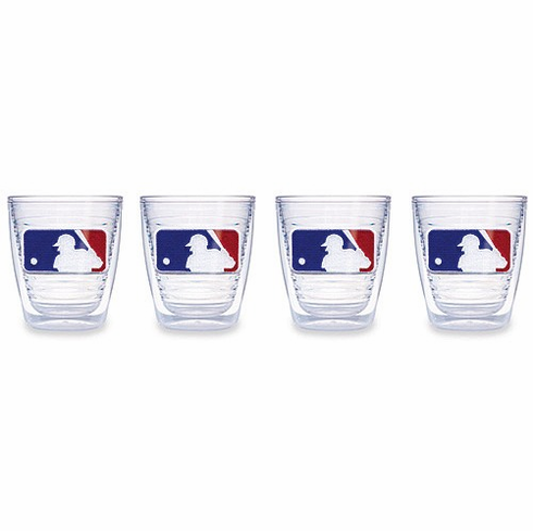 Set of Four 12 oz. MLB Logo Tumblers by Tervis<br>ONLY 1 SET LEFT!