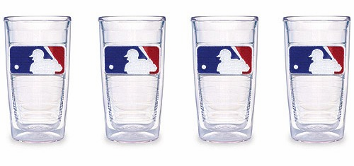 Set of Four 16 oz. MLB Logo Tumblers by Tervis<br>ONLY 4 SETS LEFT!
