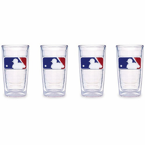 Set of Four 16 oz. MLB Logo Tumblers by Tervis<br>ONLY 3 SETS LEFT!