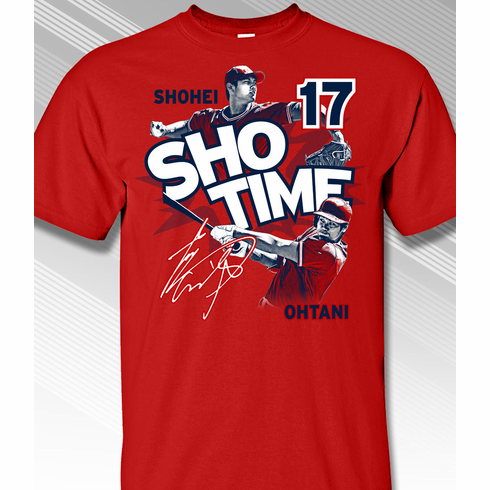 Shohei Ohtani SHO TIME Los Angeles #17 T-Shirt<br>Short or Long Sleeve<br>Youth Med to Adult 4X