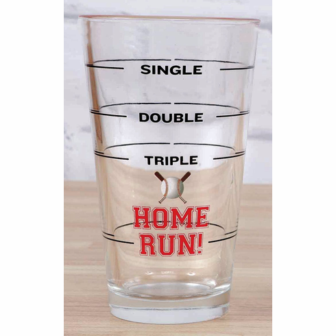 Single Double Triple Home Run! Baseball Pint Glass