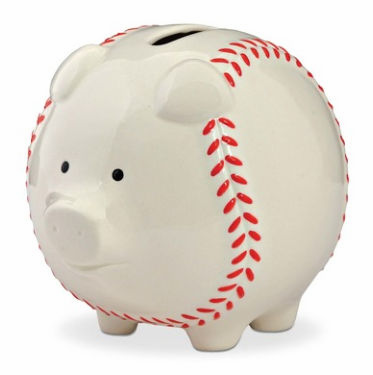 Small Baseball Piggy Bank