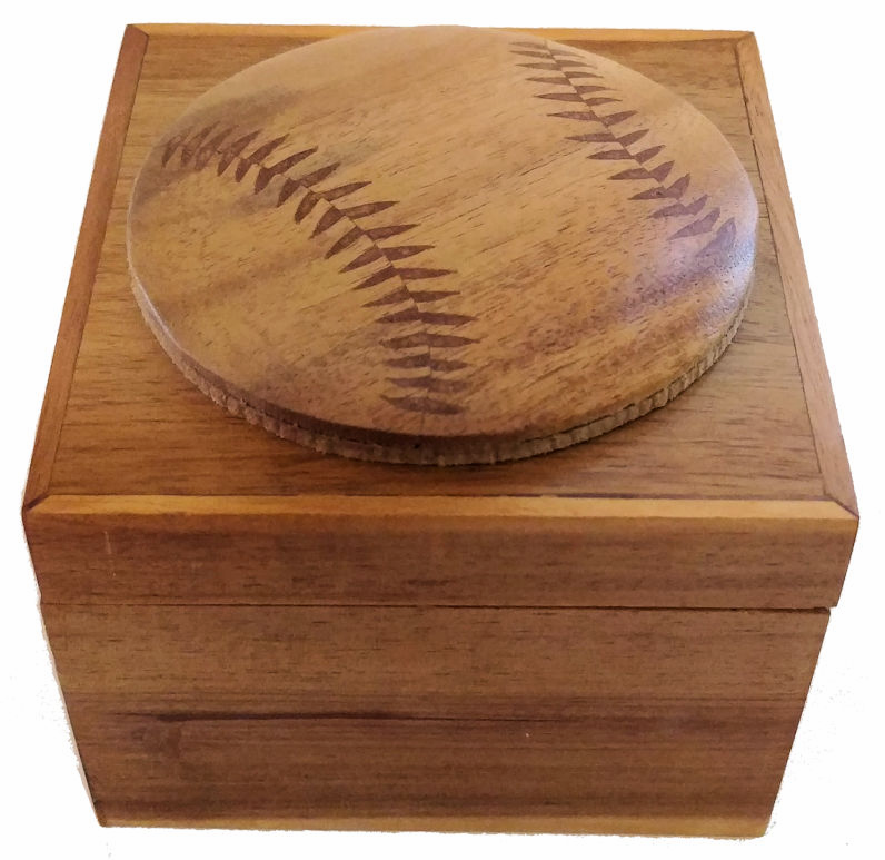 Small Baseball Wood Box<br>ONLY 2 LEFT!